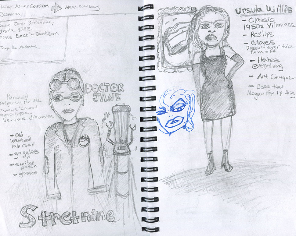 Rough Character Sketches Rough Sketches of Characters